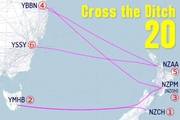 Cross the Ditch 20 Route Map